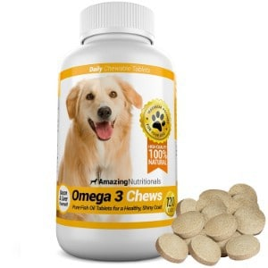 Amazing Nutritionals Omega-3 Fish Oil Chew-able Tablet for Dogs