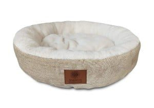 American Kennel Club AKC Casablanca Round Solid Pet Bed