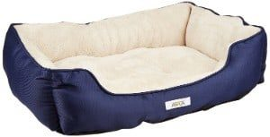 ASPCA Microtech Striped Dog Bed Cuddler