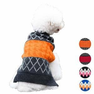 azuza Vintage Classic Turtleneck Dog Sweater