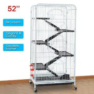 go2buy 3 Door Rabbit Cage