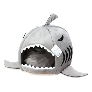 Grey Shark Cave Bed