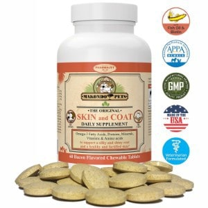 Makondo Pets Skin and Coat Supplement for Dogs and Cats