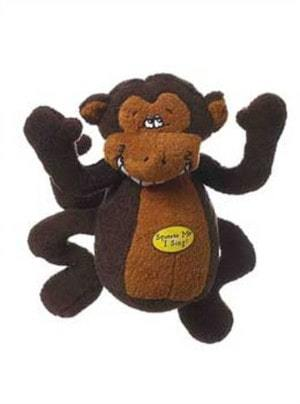 Multipet Deedle Dude 8-Inch Singing Monkey Plush Dog Toy