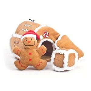 Outward Hound Gingerbread House Squeaking Puzzle Toy