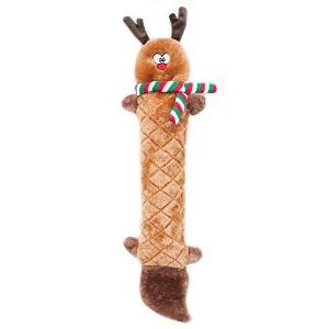 ZippyPaws Holiday Jigglerz Squeaky Reindeer Plush Dog Toy