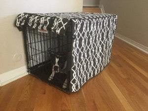 528 Zone Modern Brown & White Designer Dog Crate Cover