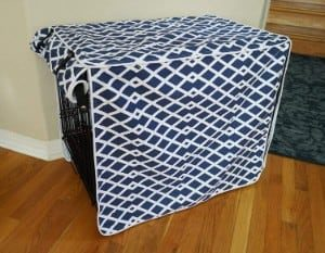 528 Zone Modern Blue Marine Dog Crate Cover