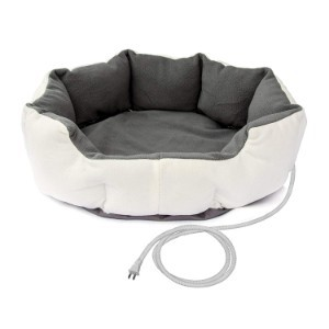 ALEKO Electric Thermo-Pad White Heated Pet Bed