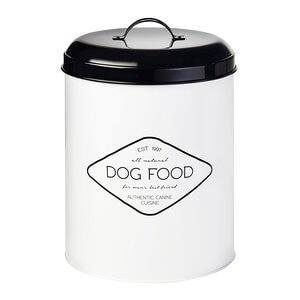 Amici Pet Buster All Natural Dog Food Metal Storage Bin