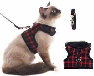 BINGPET Escape Proof Cat Harness - Adjustable Vest and Leash Set
