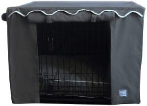 BowhausNYC Slate Grey Dog Crate Cover