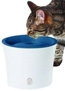 Catit water fountain with softening cartridge