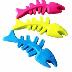 Celendi Rubber Cat Dental Chew Fish Bone
