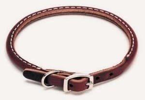 Genuine Collars Cognac Leather Dog Collar