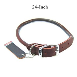 Coastal Pet Products 2208 Leather Round Dog Collar