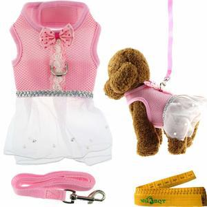 Cute Elegant Pink Mesh Dog Cat Pet Vest Harness