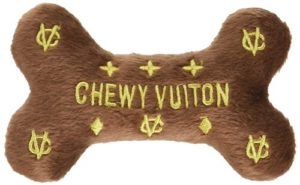 Dog Diggin Designs Runway Pup Chewy Vuiton Plush Bone