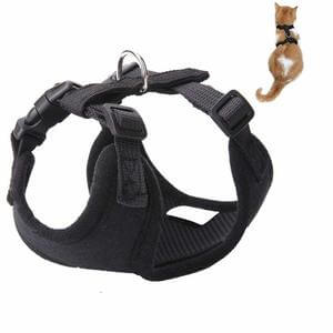 Easy Walk Cat Vest Harness - Breathable and Adjustable for Cats and Small DogsBlack