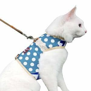 Escape Proof Cat Harness with Leash Adjustable Cat Walking Jackets Padded Cat Vest with Velcro