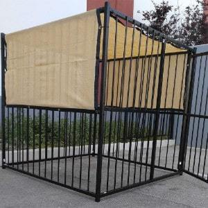FenceSmart4U Beige UV Rated Dog Kennel Shade Cover