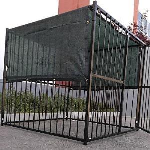 FenceSmart4U Dark Green UV Rated Dog Kennel Shade Cover
