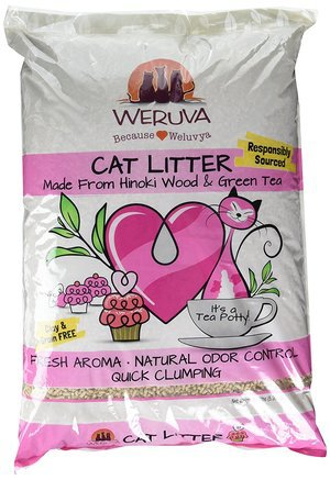 Its A Tea Potty Hinoki Wood & Green Tea Natural Cat Litter by Weruva