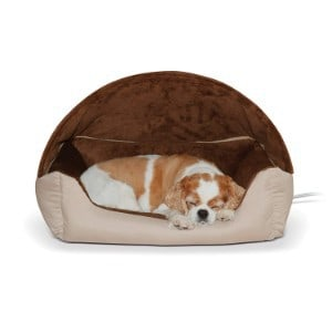 K&H Pet Products Thermo-Hooded Lounger Heated Pet Bed
