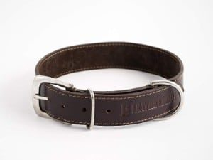 LEATHERBERG Leather Dog Collar Brown