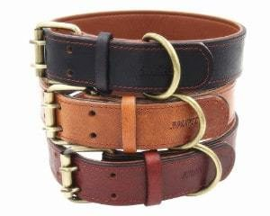 Moonpet Real Leather Dog Collar