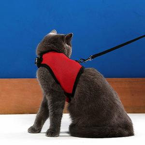 Niteangel 2-Pack of Adjustable Cat Harness with Elastic Leash
