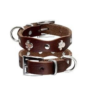PET ARTIST Luxury Genuine Leather Dog Collar