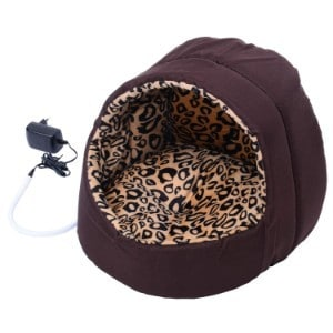 PawHut Electric Heated Pet Bed Hooded