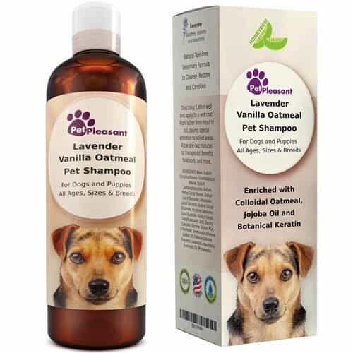 Pet Pleasant Vanilla Oatmeal Dog Shampoo with Lavender