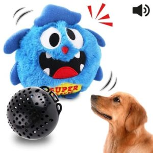Petbobi Automatic Dog Toys Interactive Plush Giggle Ball