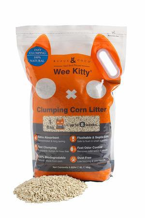 Rufus & Coco 88 lb Wee Kitty Clumping Corn Cat Litter