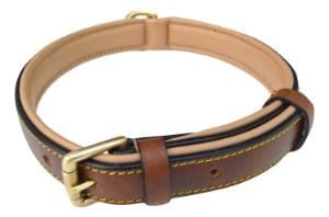 Soft Touch Slimline Leather Dog Collar
