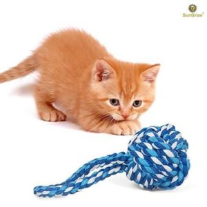 SunGrow Rope Ball Chew Toy for Cats