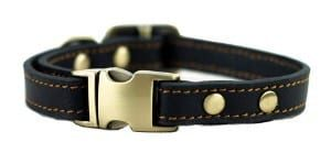 Tellpet Leather Dog Collar with Quick Release Buckle