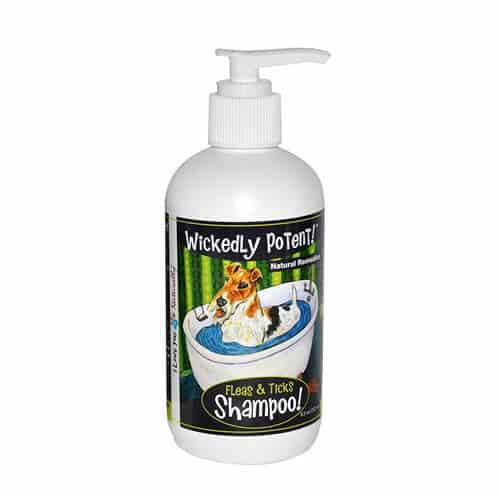 Wickedly Potent All Natural Flea & Tick Shampoo for Dogs