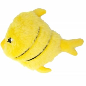 Youngever Durable Plush Fish Dog Toy