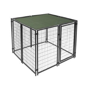 Aleko Green Dog Kennel Sun Shade Cover with Weather Protection