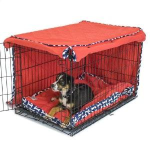 Cardinal & Crest Give a Dog a Bone Crate Cover