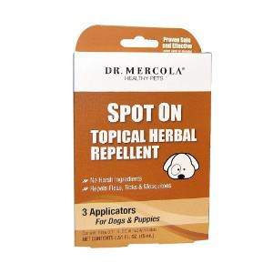 Dr. Mercola Spot On Topical Herbal Flea & Tick Repellent for Dogs