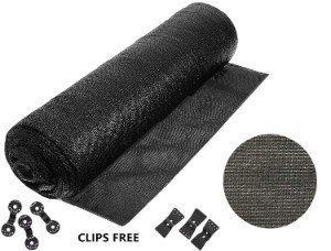 Soclerg 90% Heavy-Duty Black Sunblock Shade Cloth