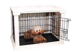 zoovilla White Cage with Crate Cover