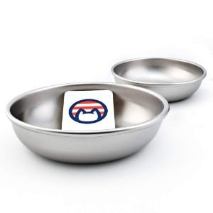 Americat Set of 2 Stainless Steel Cat Bowls