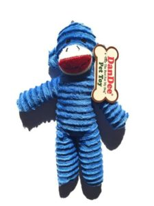 DanDee Only The Best For My Dog Pet Sock Monkey Toy