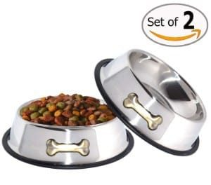 GPET Stainless Steel Dog Bowls Set of 2