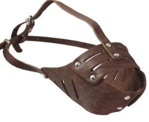Leather Cage Dog Muzzle